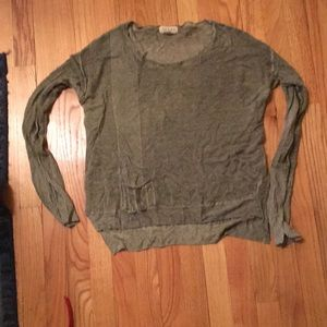 Adorable linen blend Anthropologie sweater